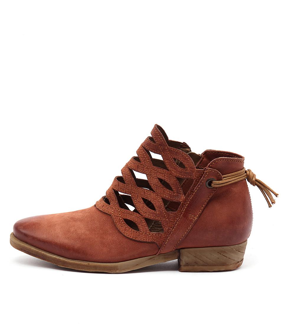 Miz Mooz Dido Rust Casual Ankle Boots