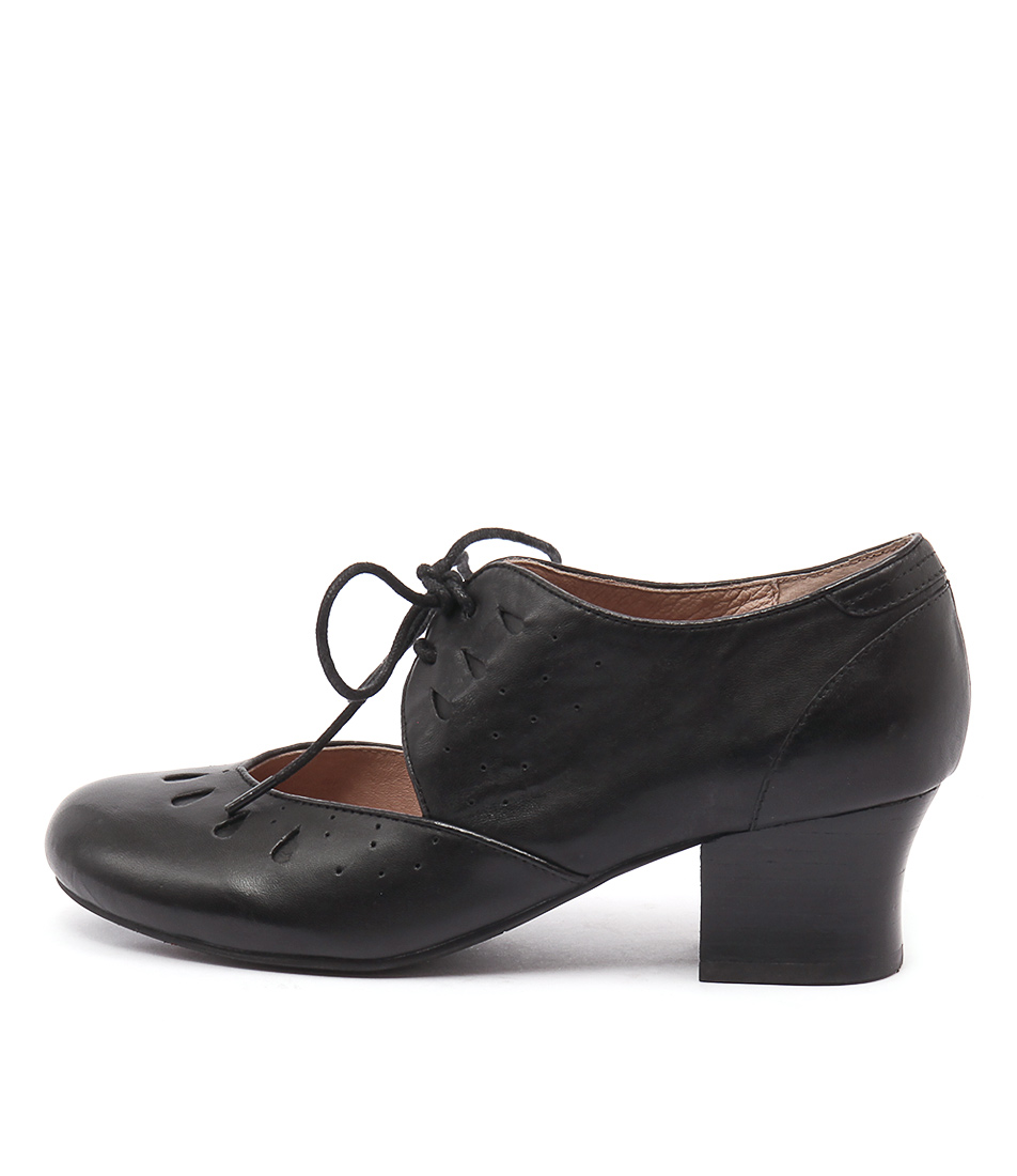 Miz Mooz Fordham Black Casual Heeled Shoes