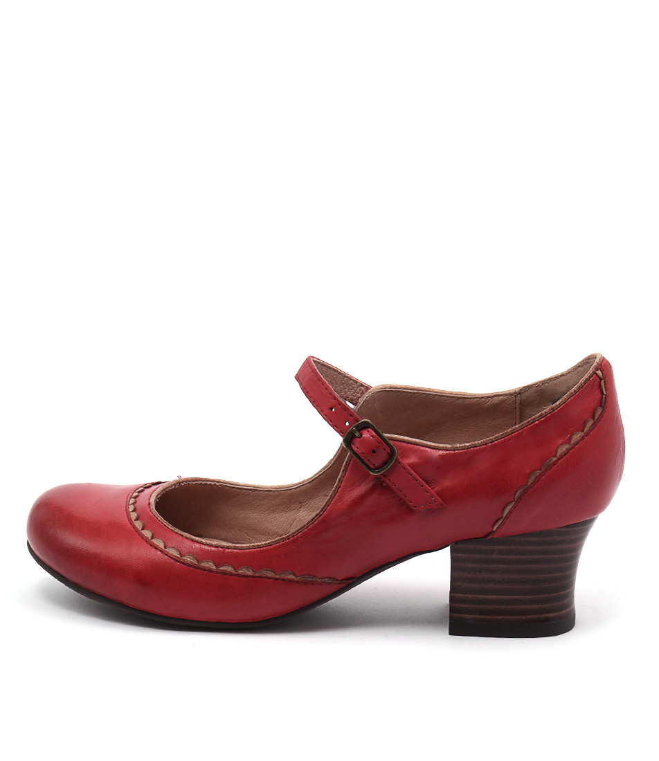 Miz Mooz Fortune Red Casual Heeled Shoes