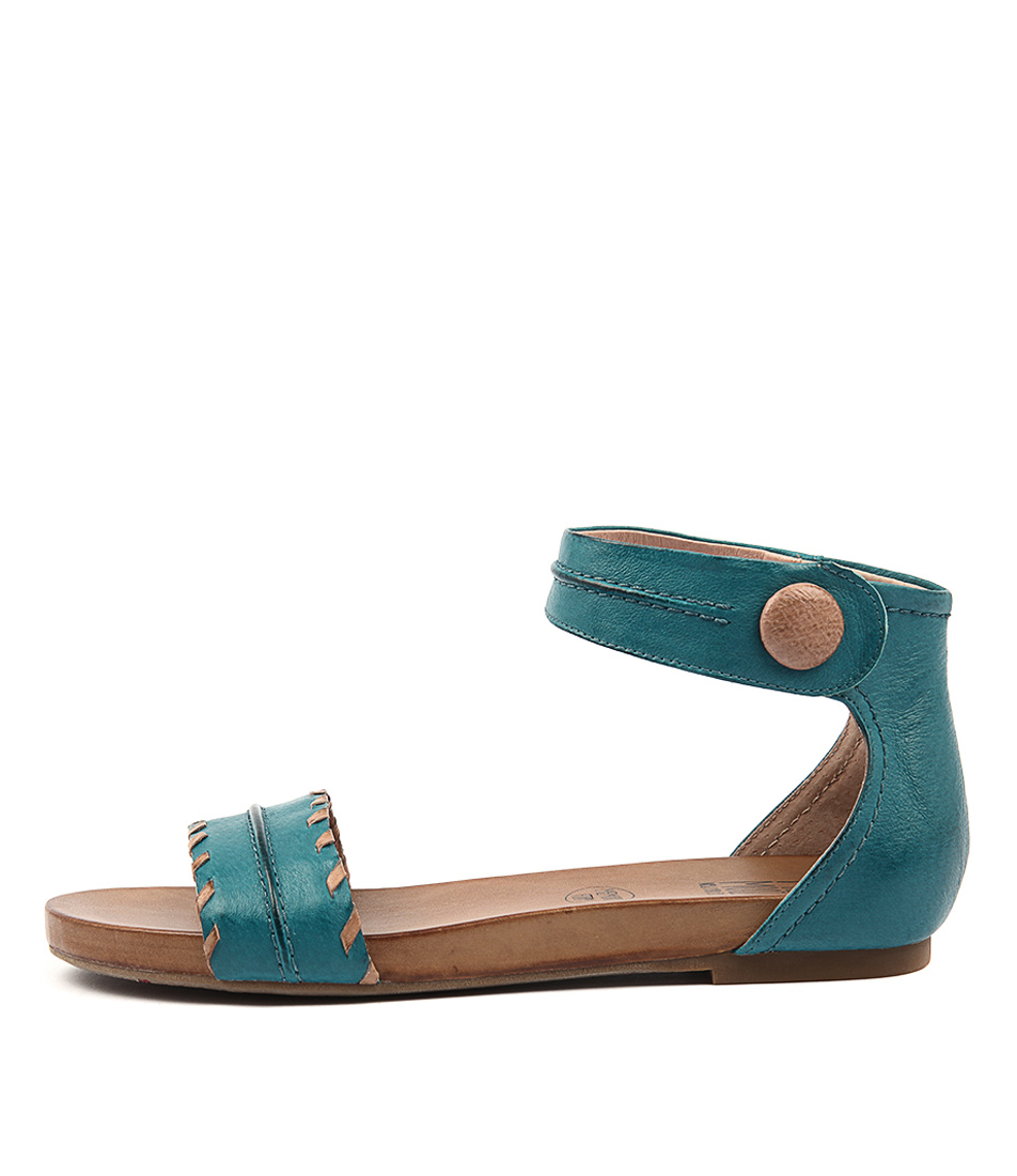 Miz Mooz Alexi Blue Casual Flat Sandals