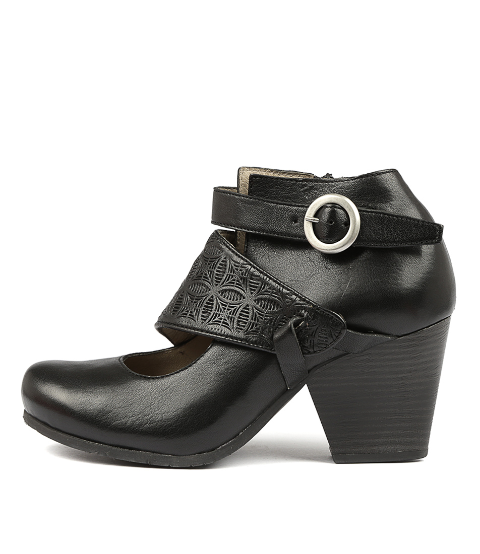 Miz Mooz Dale Miz Black Dress Ankle Boots