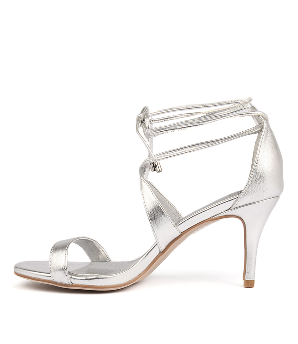 Mollini Carry Silver Dress Heeled Sandals