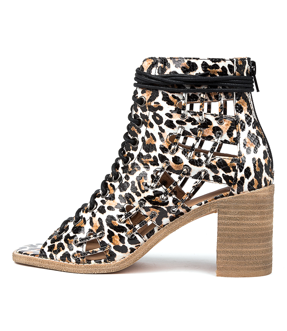 Buy Mollini Datbar Ocelot Print Heeled Sandals online with free shipping