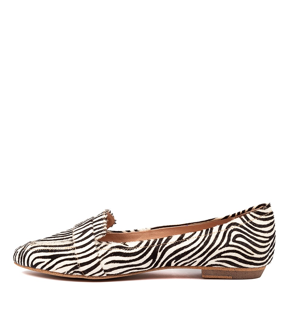 Buy Mollini Grail Zebra Flats online with free shipping