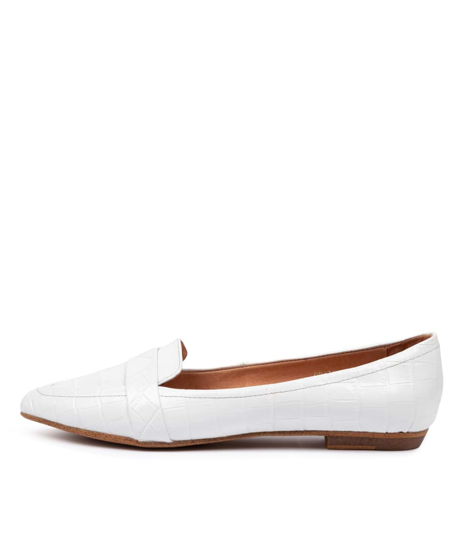 Buy Mollini Grail White Flats online with free shipping