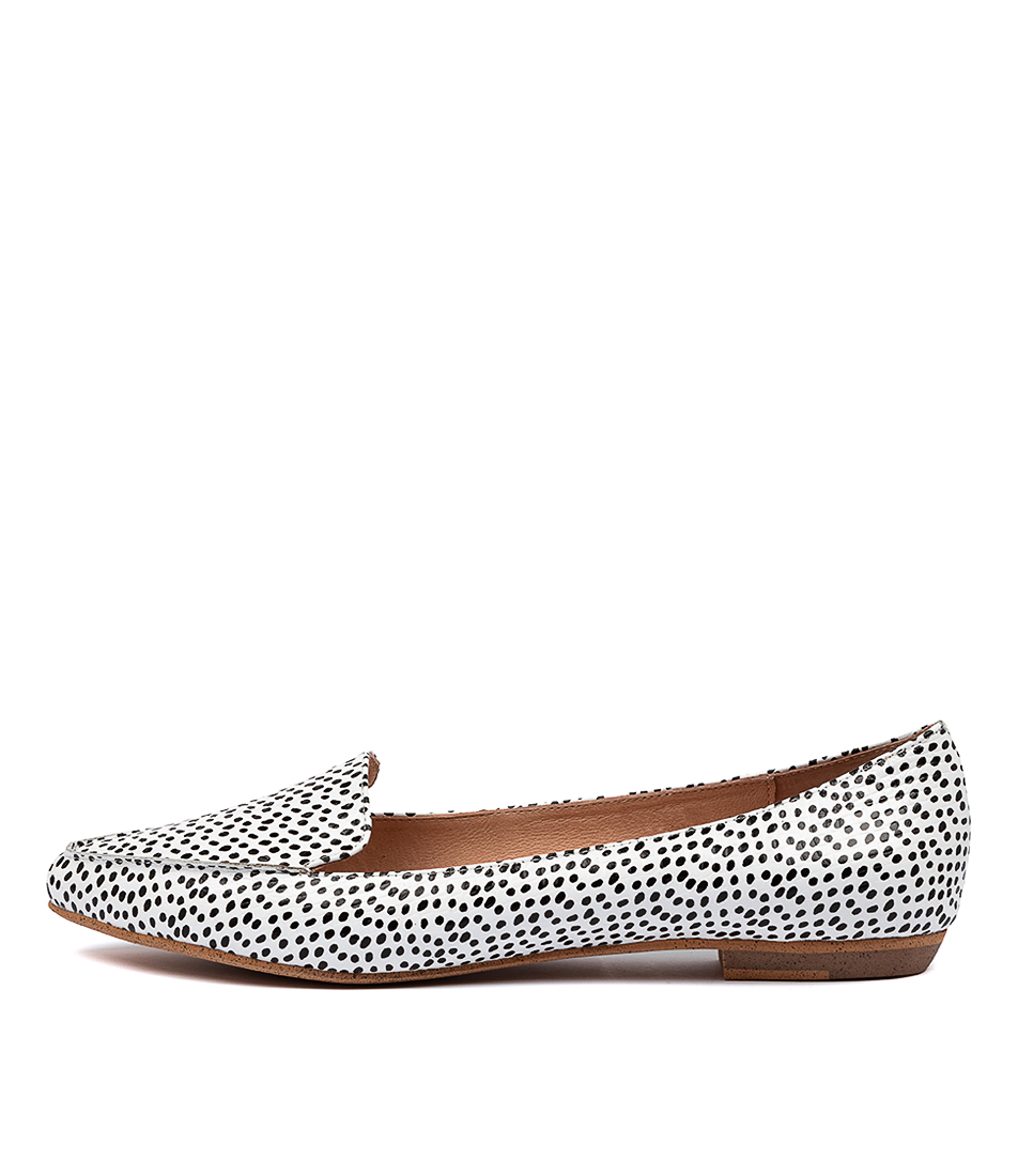 Buy Mollini Gyro Black & White Spo Flats online with free shipping