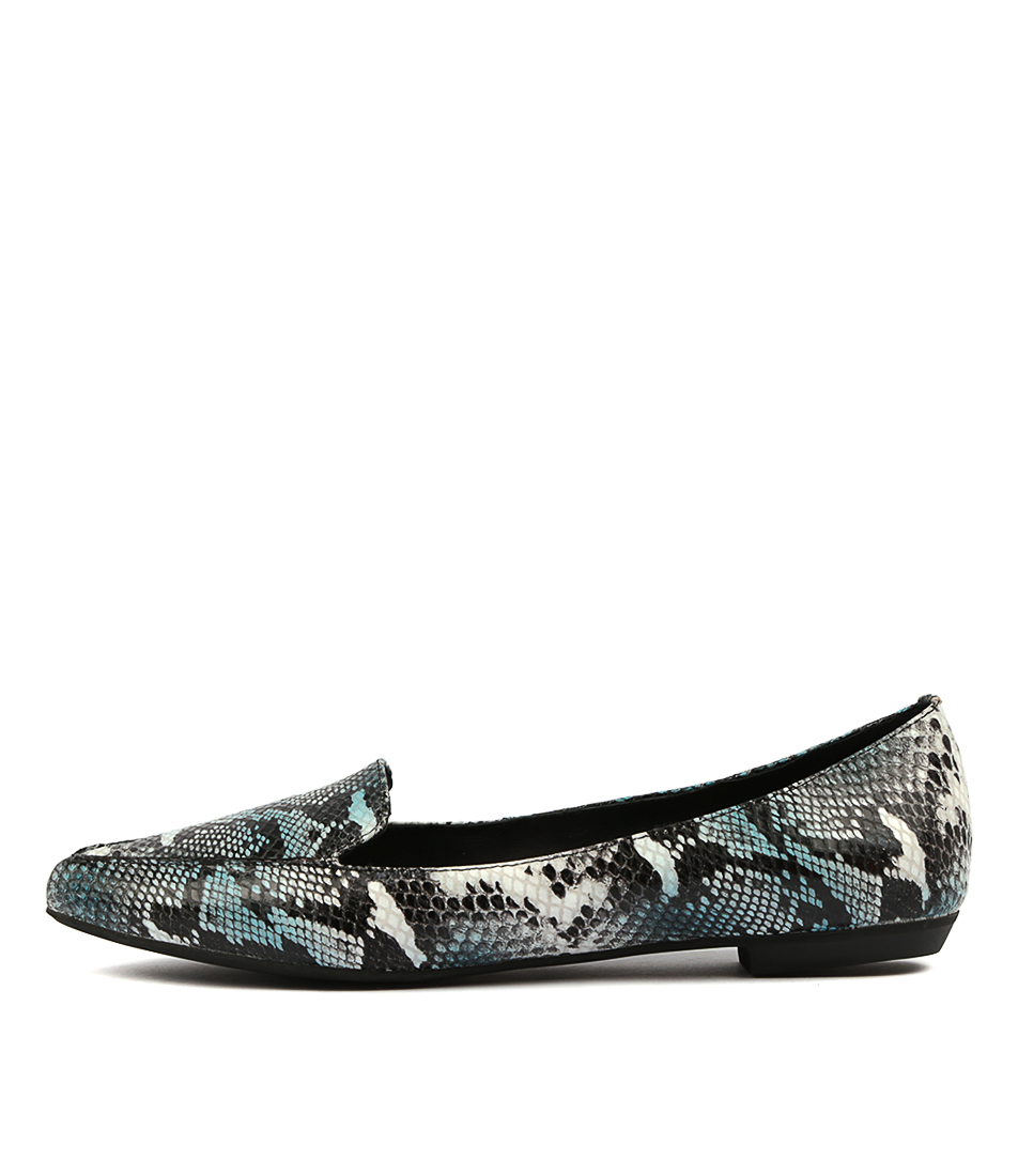 Buy Mollini Gyro Blue Multi Flats online with free shipping