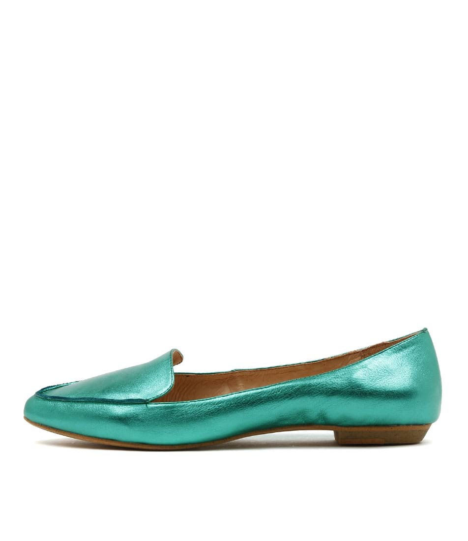 Mollini Gyro Emerald Metallic Flat Shoes