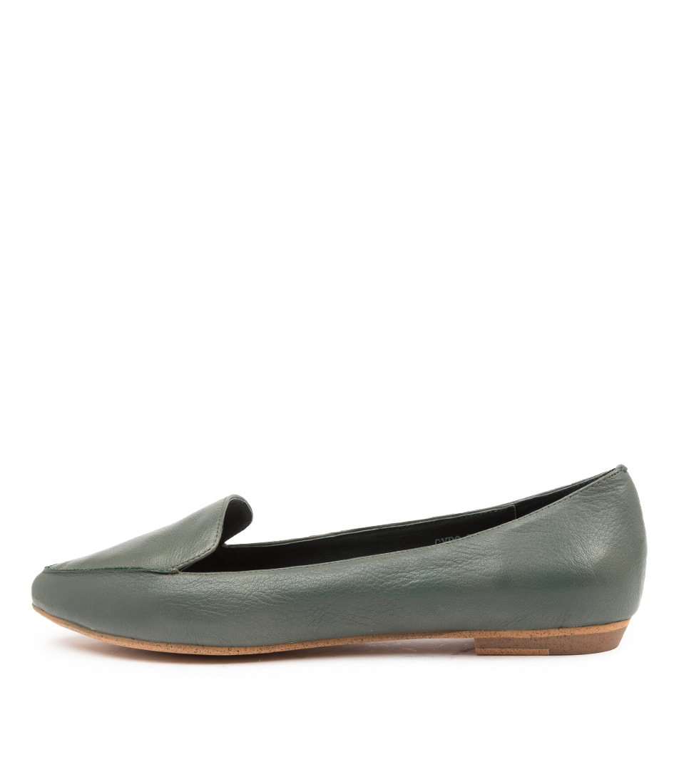 Buy Mollini Gyro Deep Green Flats online with free shipping