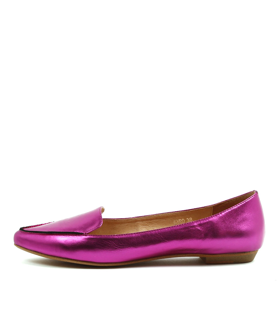 Mollini Gyro Fuchsia Metallic Flat Shoes