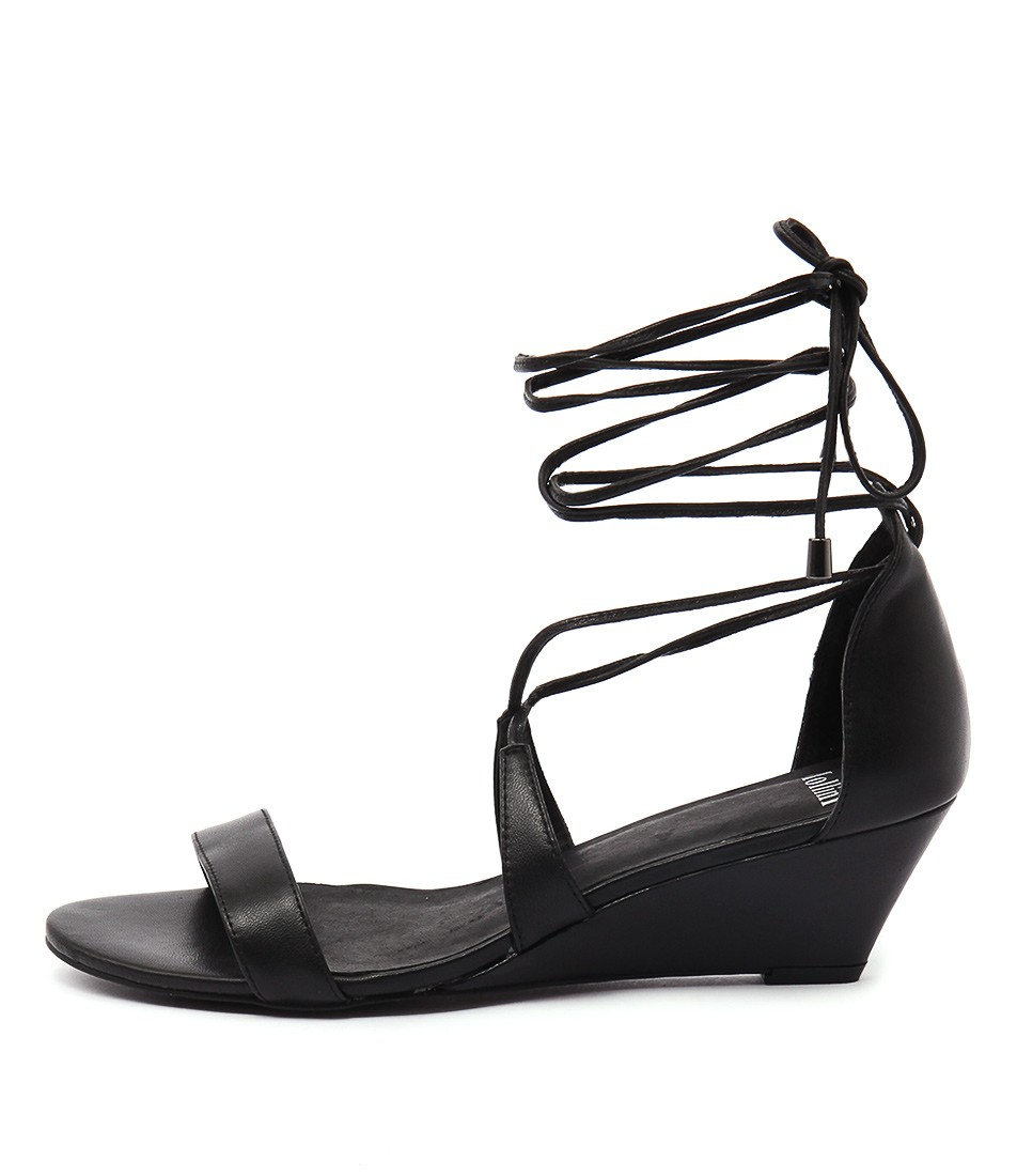 Mollini Mopper Black Heeled Sandals