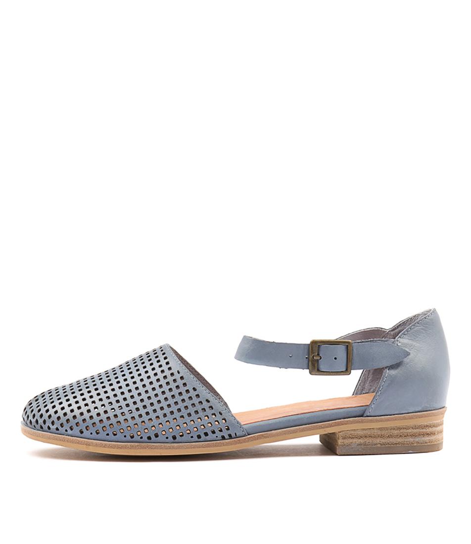 Mollini Quaver Powder Blue Flat Shoes