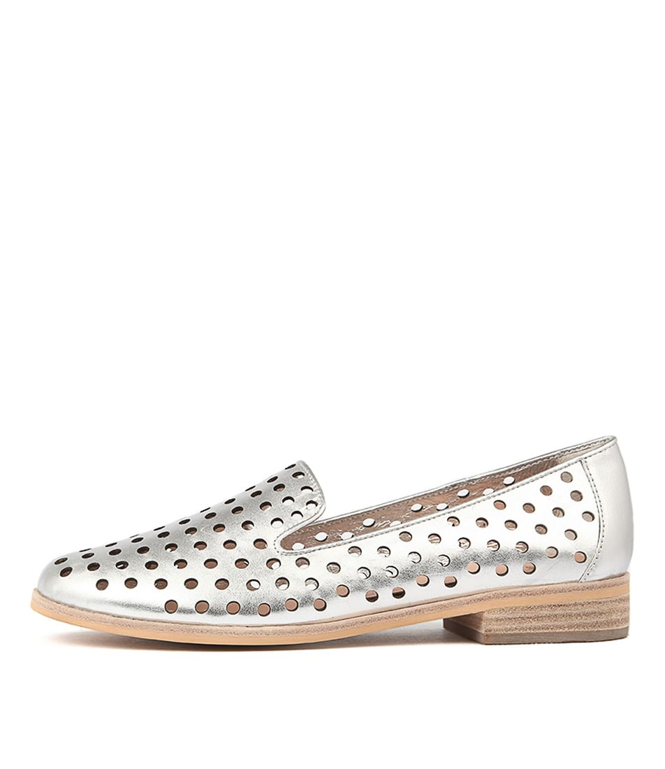Mollini Queff Silver Casual Flat Shoes