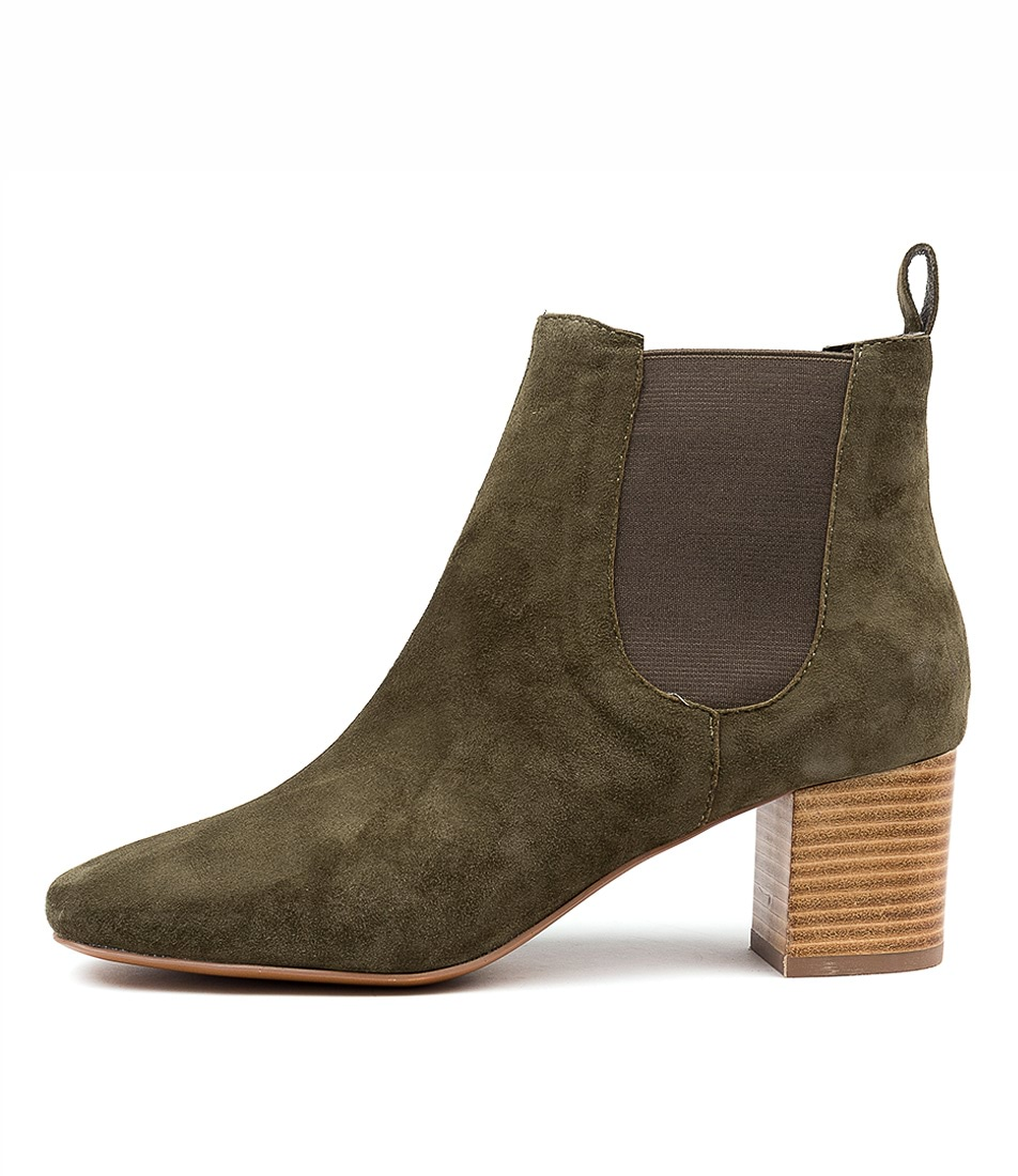 Buy Mollini Char Khaki Ankle Boots online with free shipping
