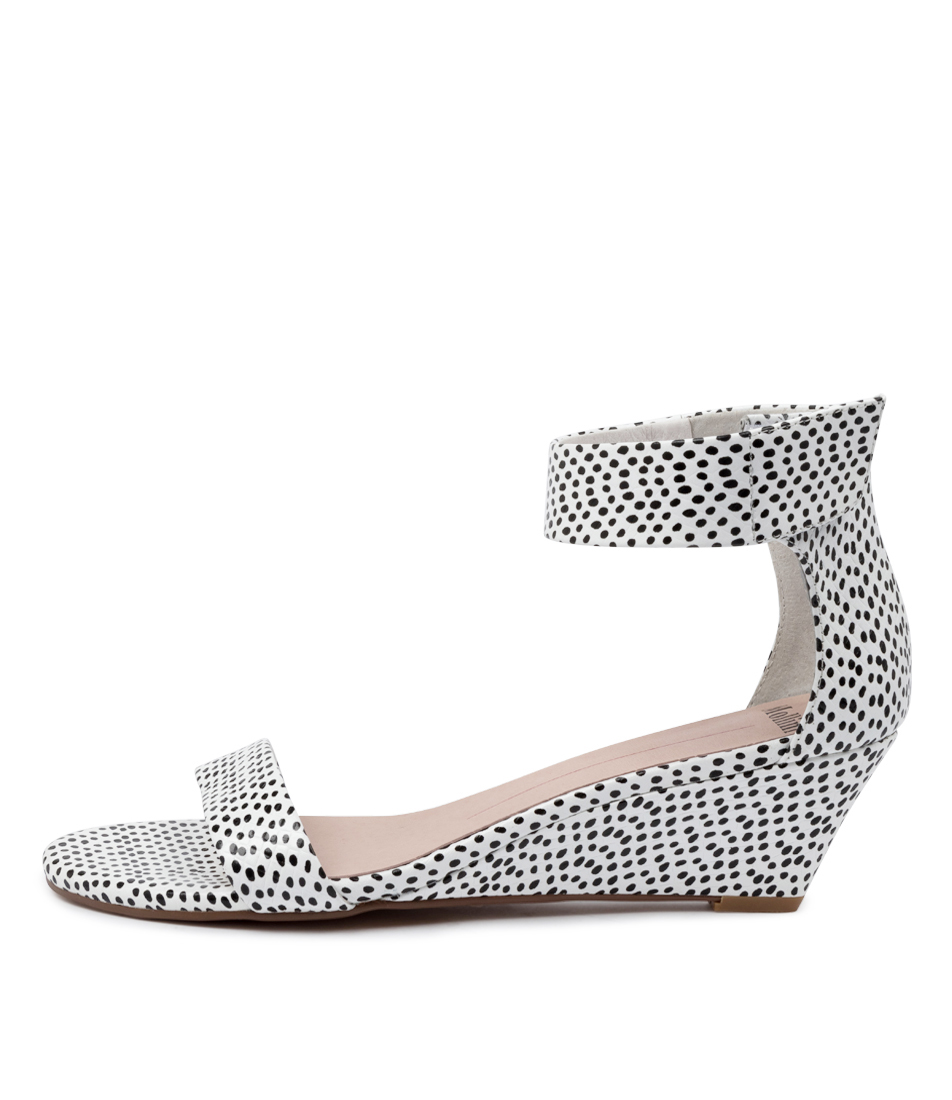 Buy Mollini Marsy Black & White Spo Heeled Sandals online with free shipping