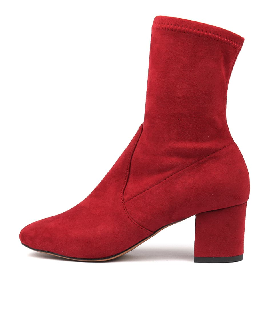 Buy Mollini Careful Bright Red Ankle Boots online with free shipping