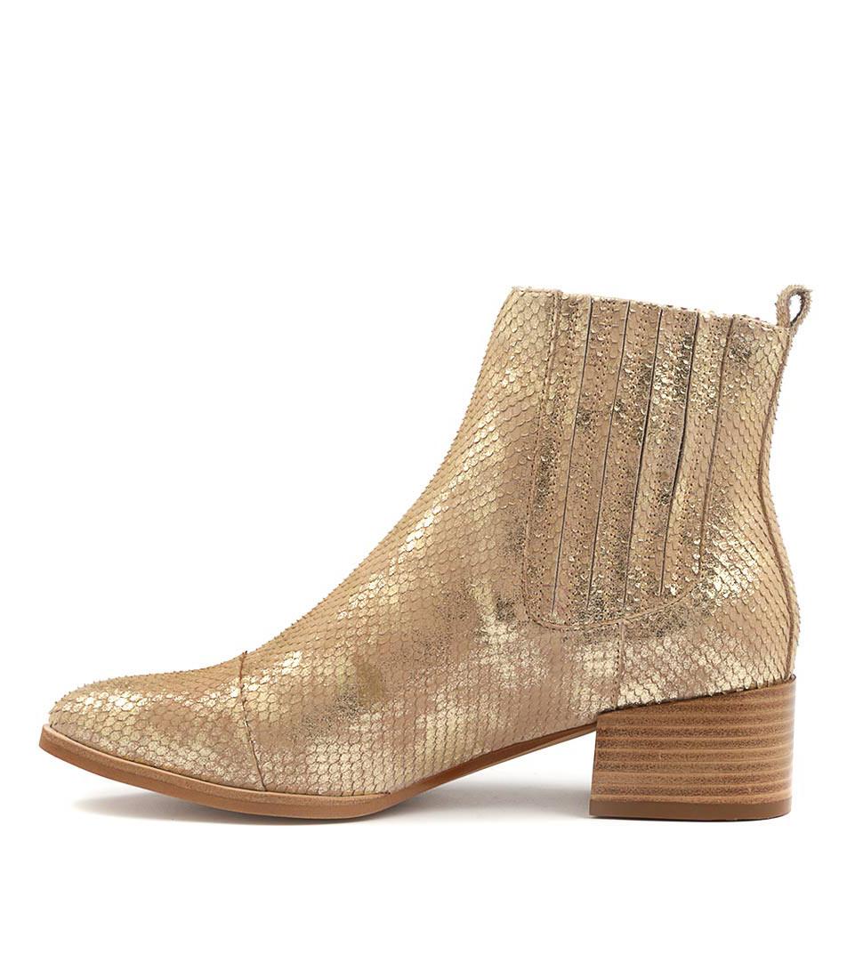 Mollini Daquri Platinum Multi Ankle Boots
