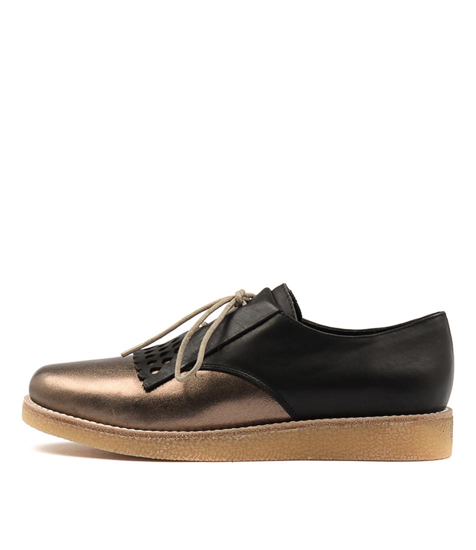 Mollini Elamos Bronze Black Flat Shoes
