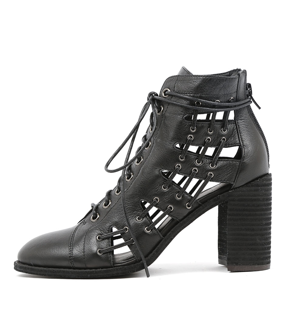 Mollini Gridees Black Ankle Boots