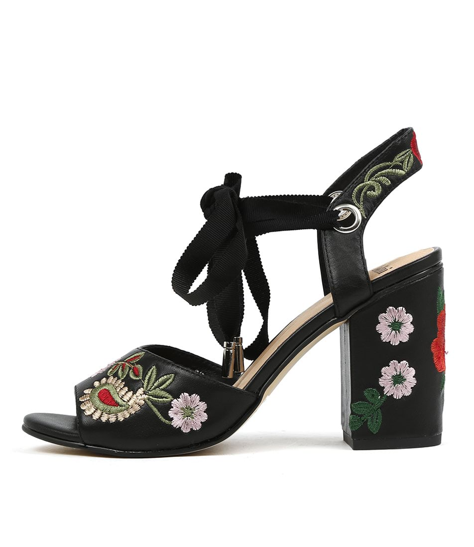 Mollini Ohela Black Red Heeled Shoes