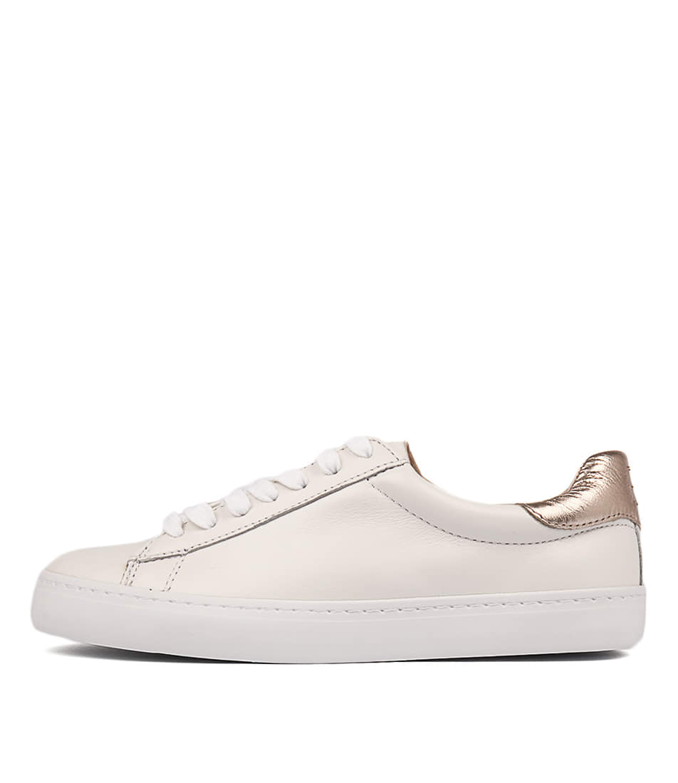 Buy Mollini Session White Rose Gold Sneakers online with free shipping