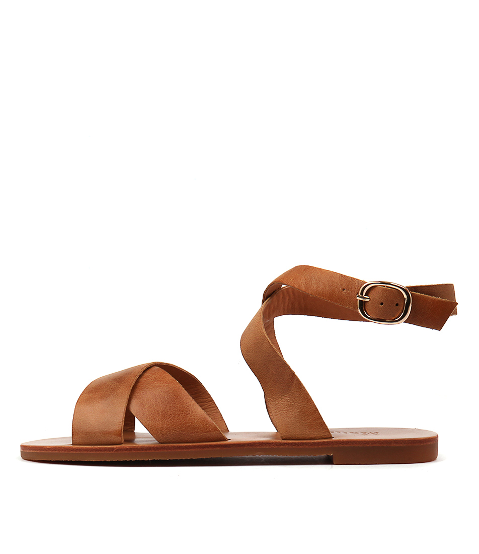 Mollini Evanas Tan Casual Flat Sandals