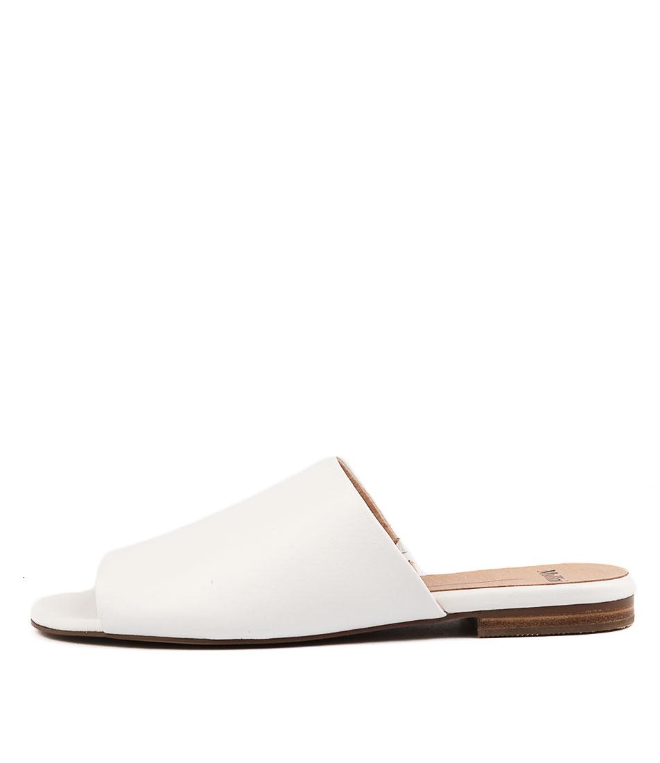 Mollini Finsine White Flat Sandals