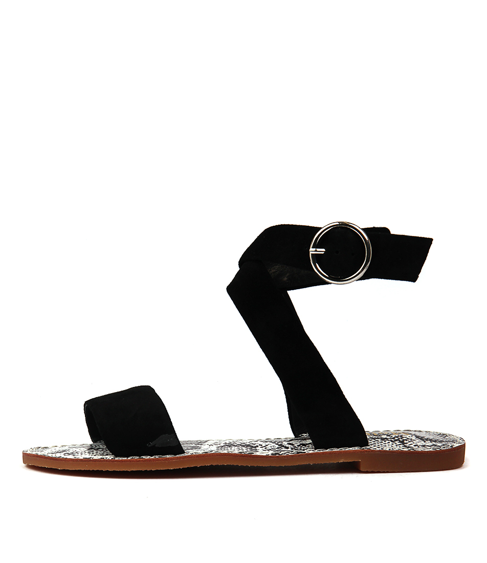 Mollini Flaming Black Casual Flat Sandals