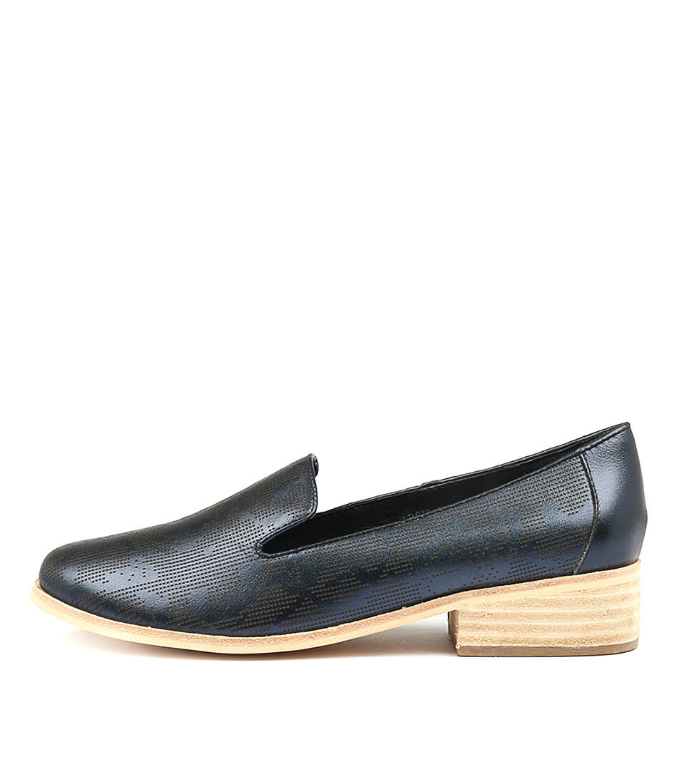 Mollini Gershwin Navy Metallic Flat Shoes