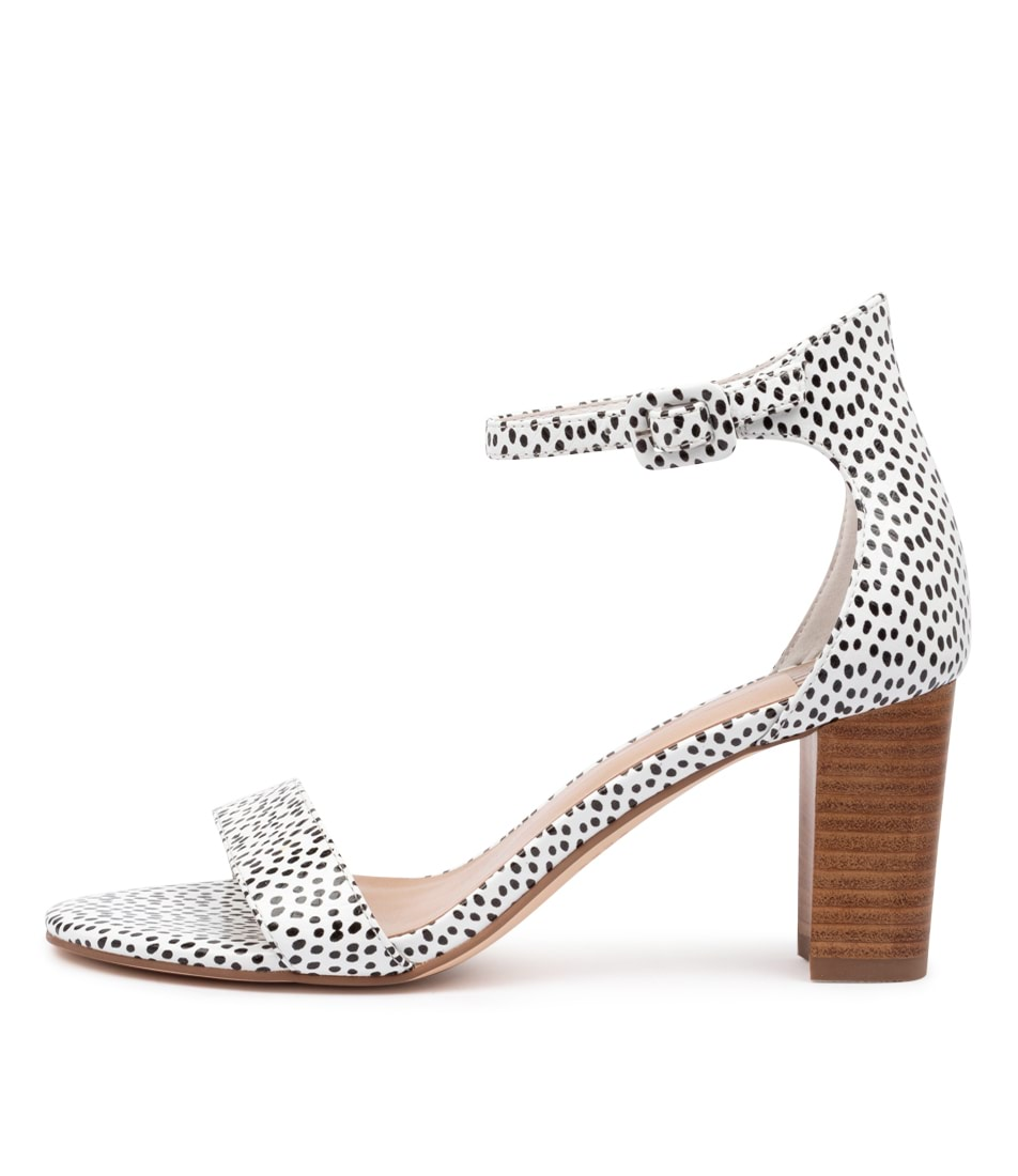 Buy Mollini Gessie Black & White Spo Heeled Sandals online with free shipping