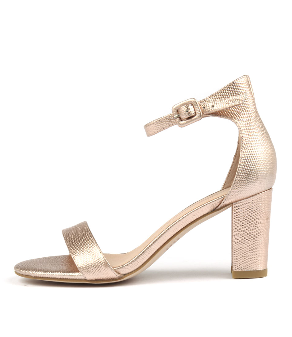 Buy Mollini Gessie Rose Gold Heeled Sandals online with free shipping