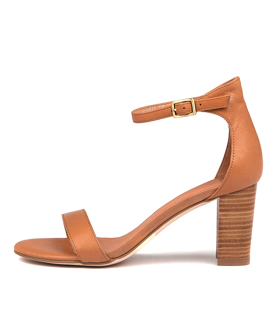 Buy Mollini Gessie Dk Tan Natural Heeled Sandals online with free shipping
