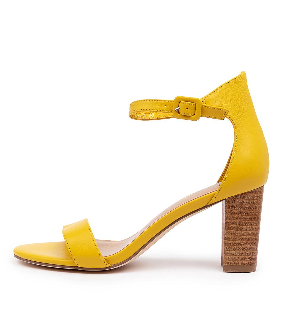 Buy Mollini Gessie Yellow Veneer H Heeled Sandals online with free shipping
