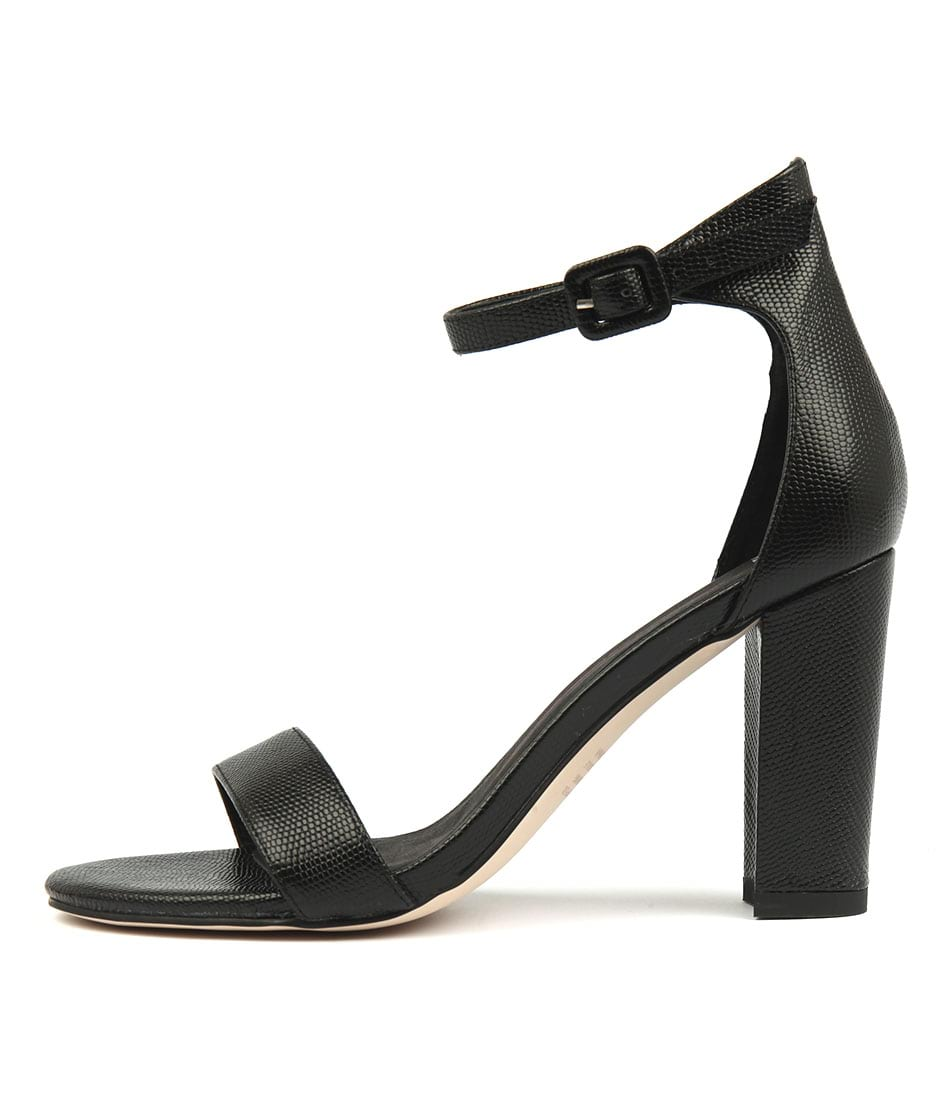 Mollini Huey Black Dress Heeled Sandals