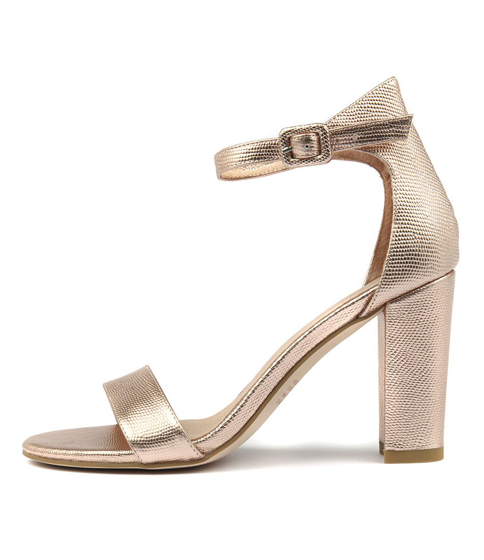 buy Mollini Huey Rose Gold Heeled Sandals shop Mollini Sandals online
