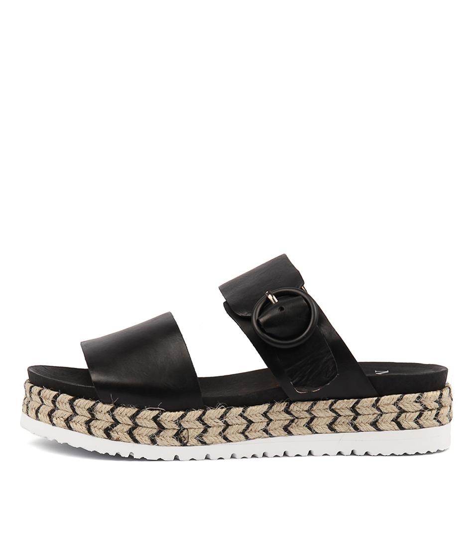 Buy Mollini Joslyn Black Flat Sandals online with free shipping