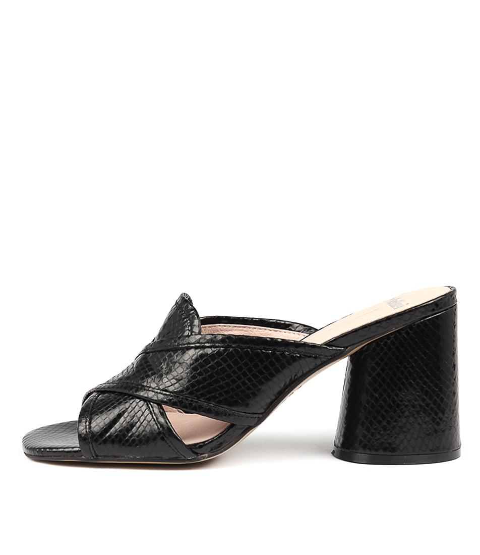 Mollini Novari Black Heeled Sandals