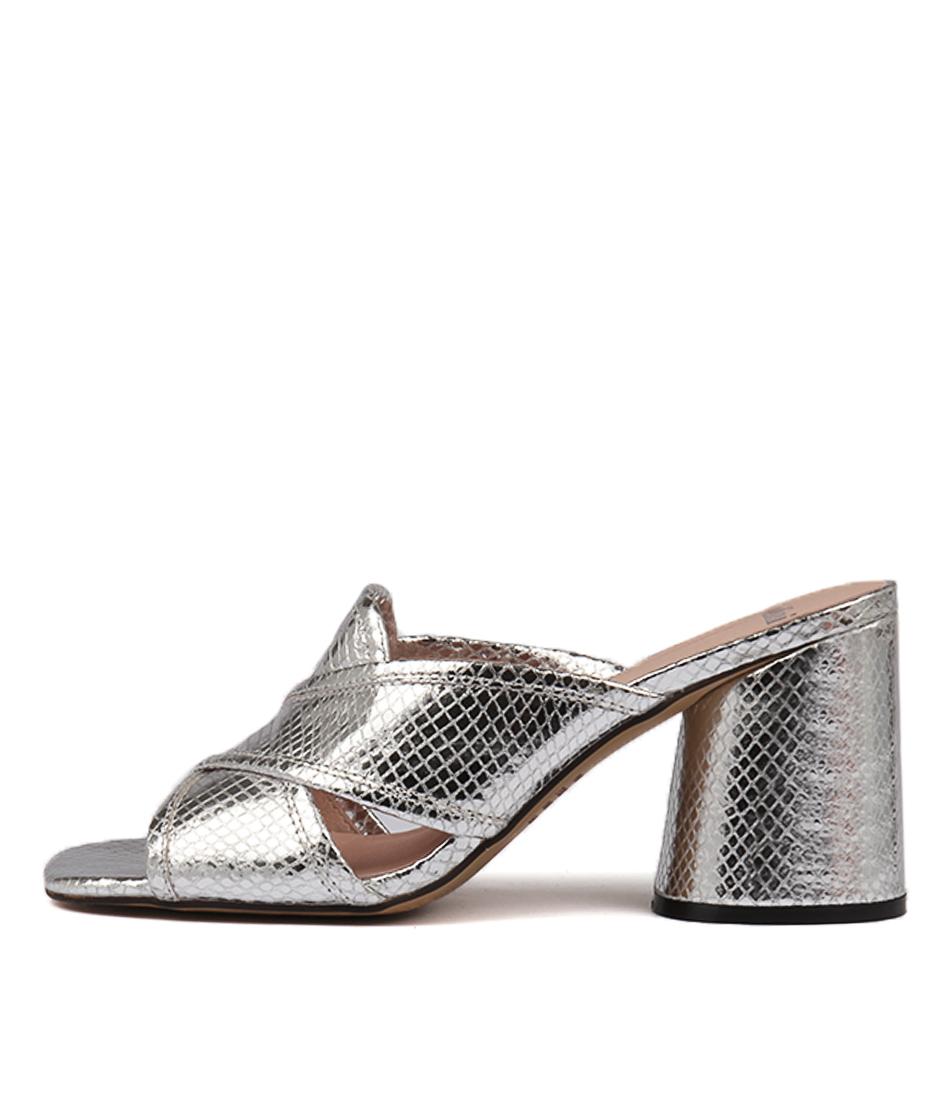 Mollini Novari Silver Heeled Sandals