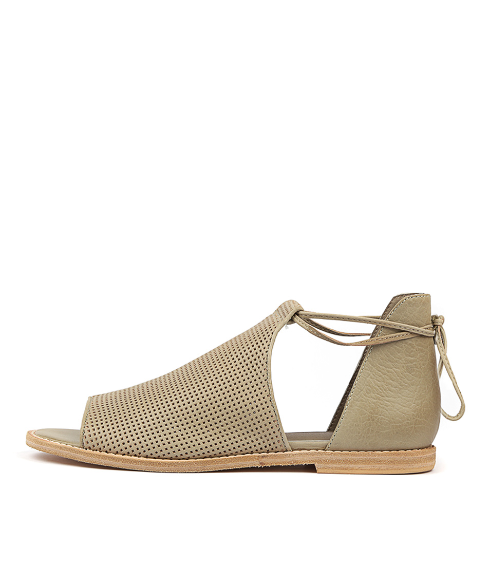 Buy Mollini Nuance Khaki Flat Sandals online with free shipping