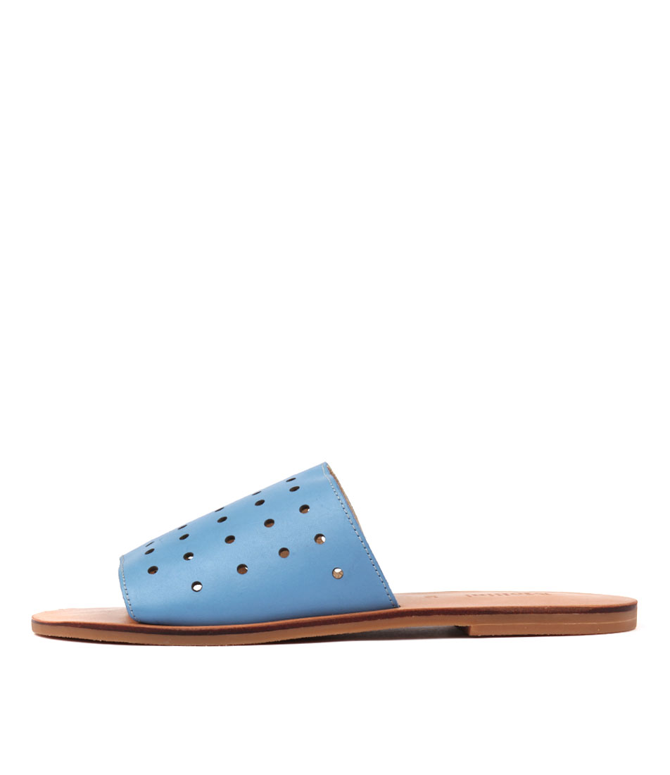 Mollini Oops Faded Denim Flat Sandals