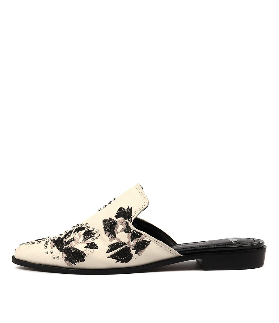 Mollini Hagen Off White Flat Shoes