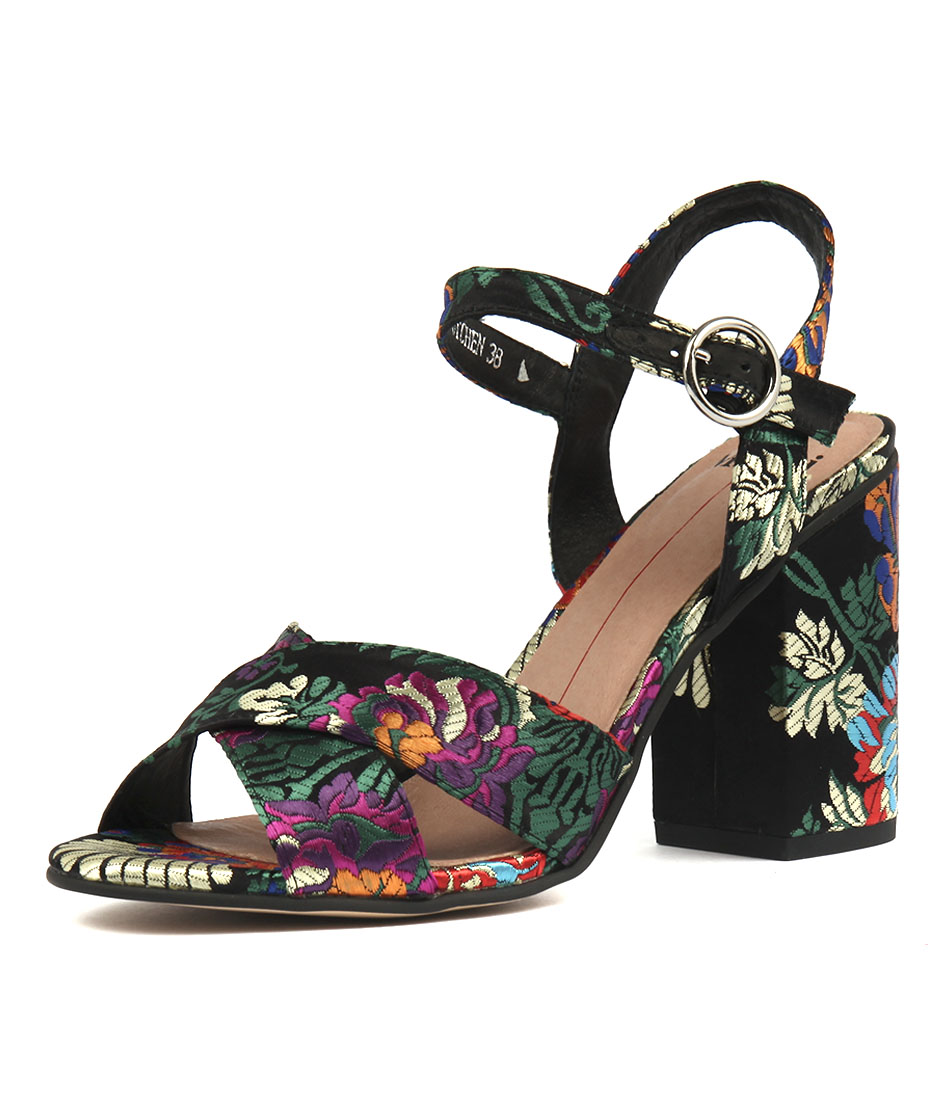 Mollini Otchen Black Jacquard Sandals