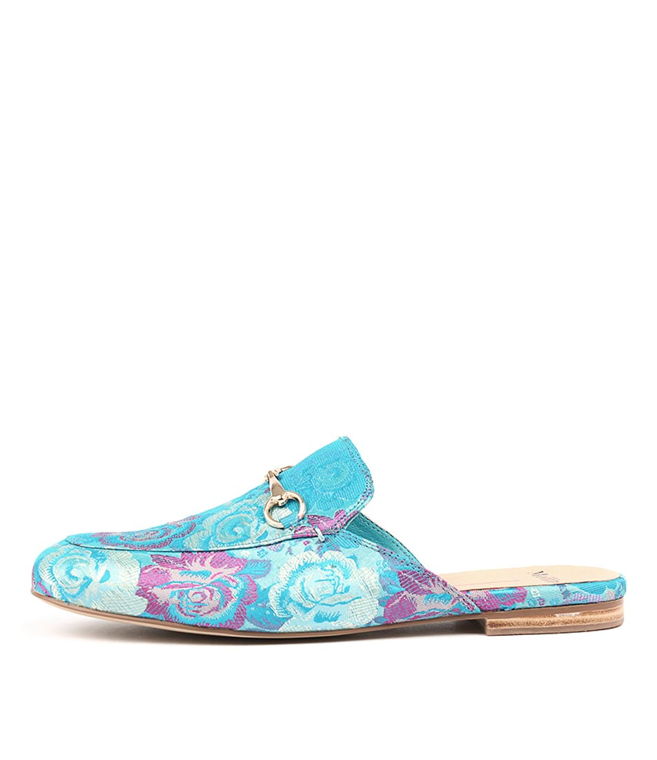 Buy Mollini Georgette Aqua Rose Broca Sandals Flat Sandals online with free shipping