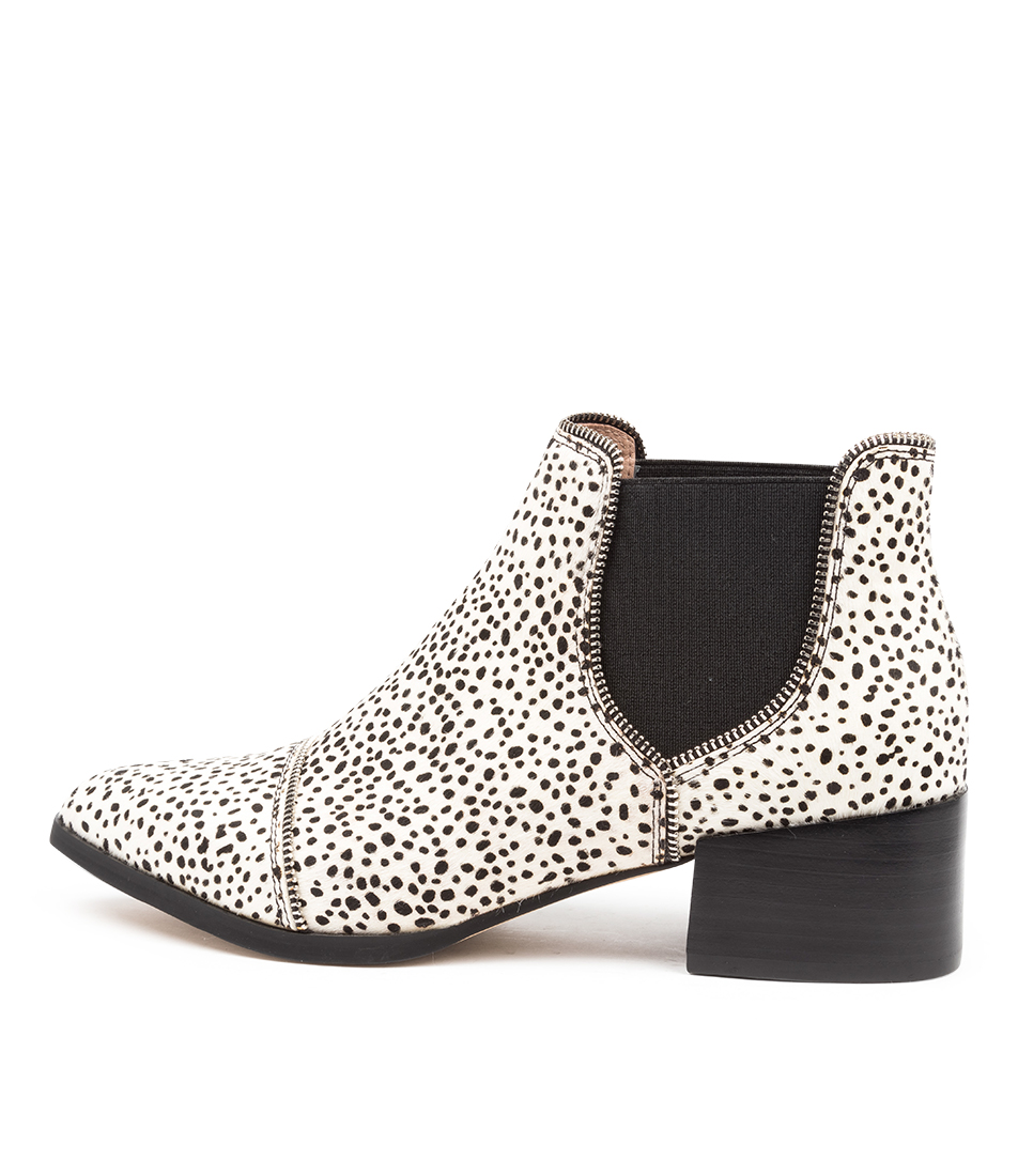 Buy Mollini Diesels Black & White Ankle Boots online with free shipping