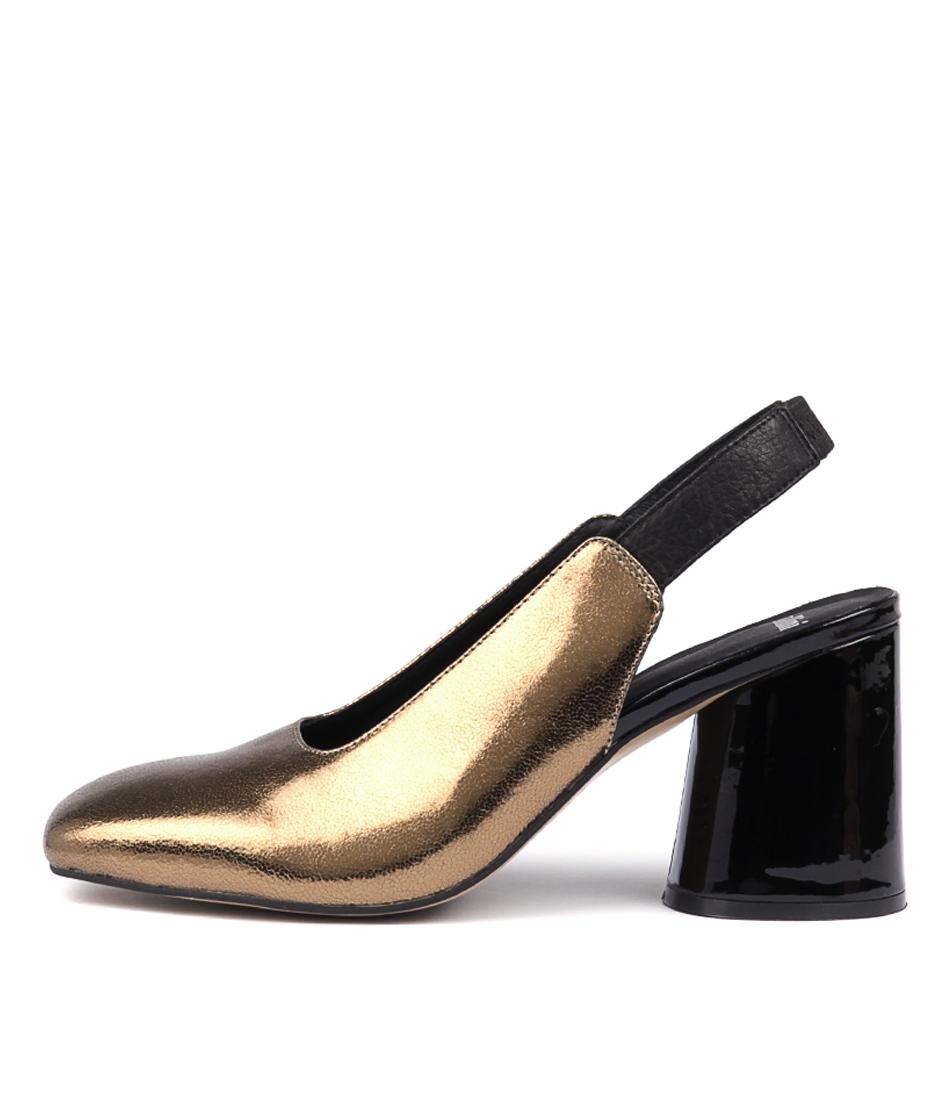 Mollini Nollai Bronze Black High Heels