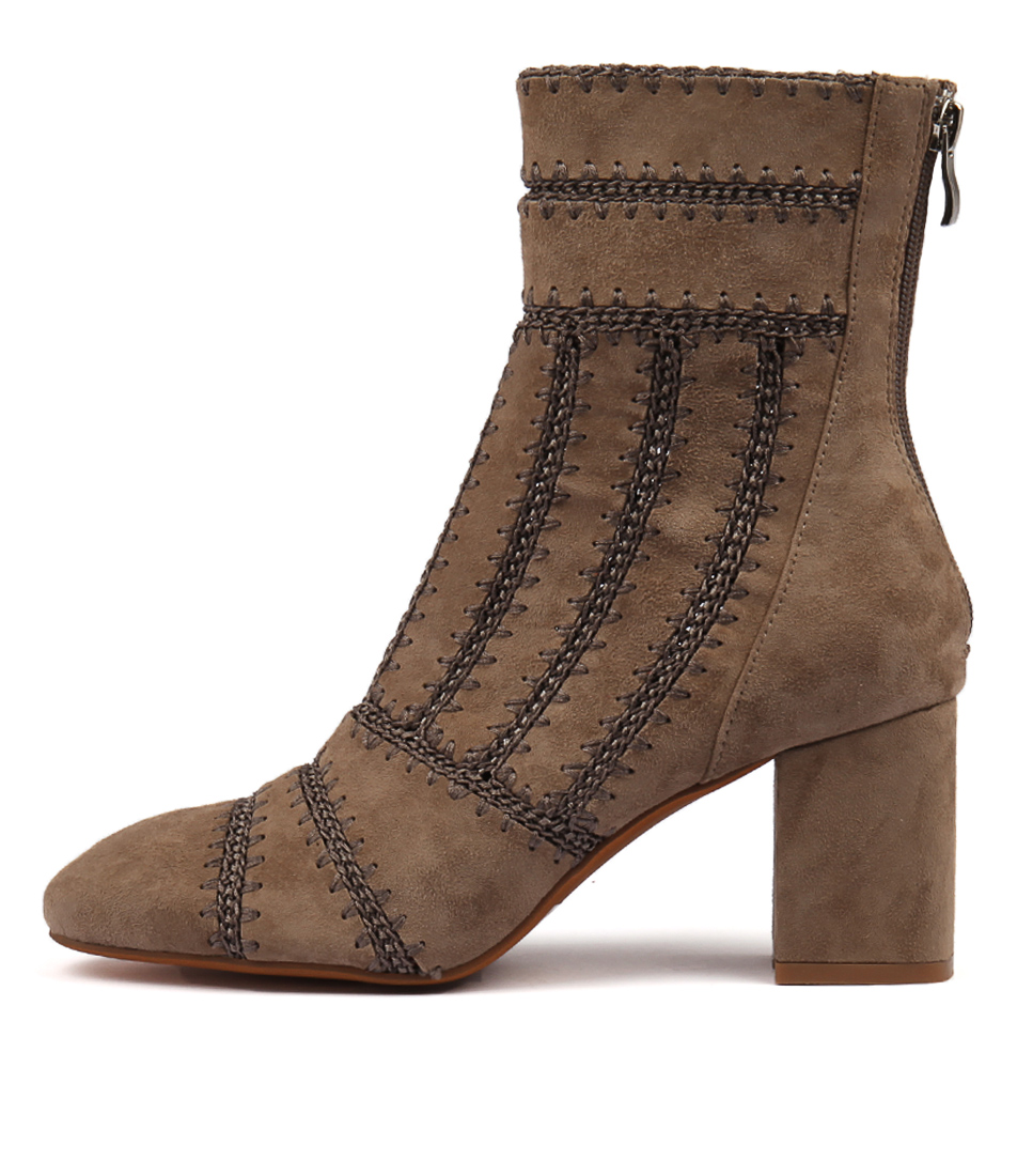 Mollini Shuffle Taupe Ankle Boots