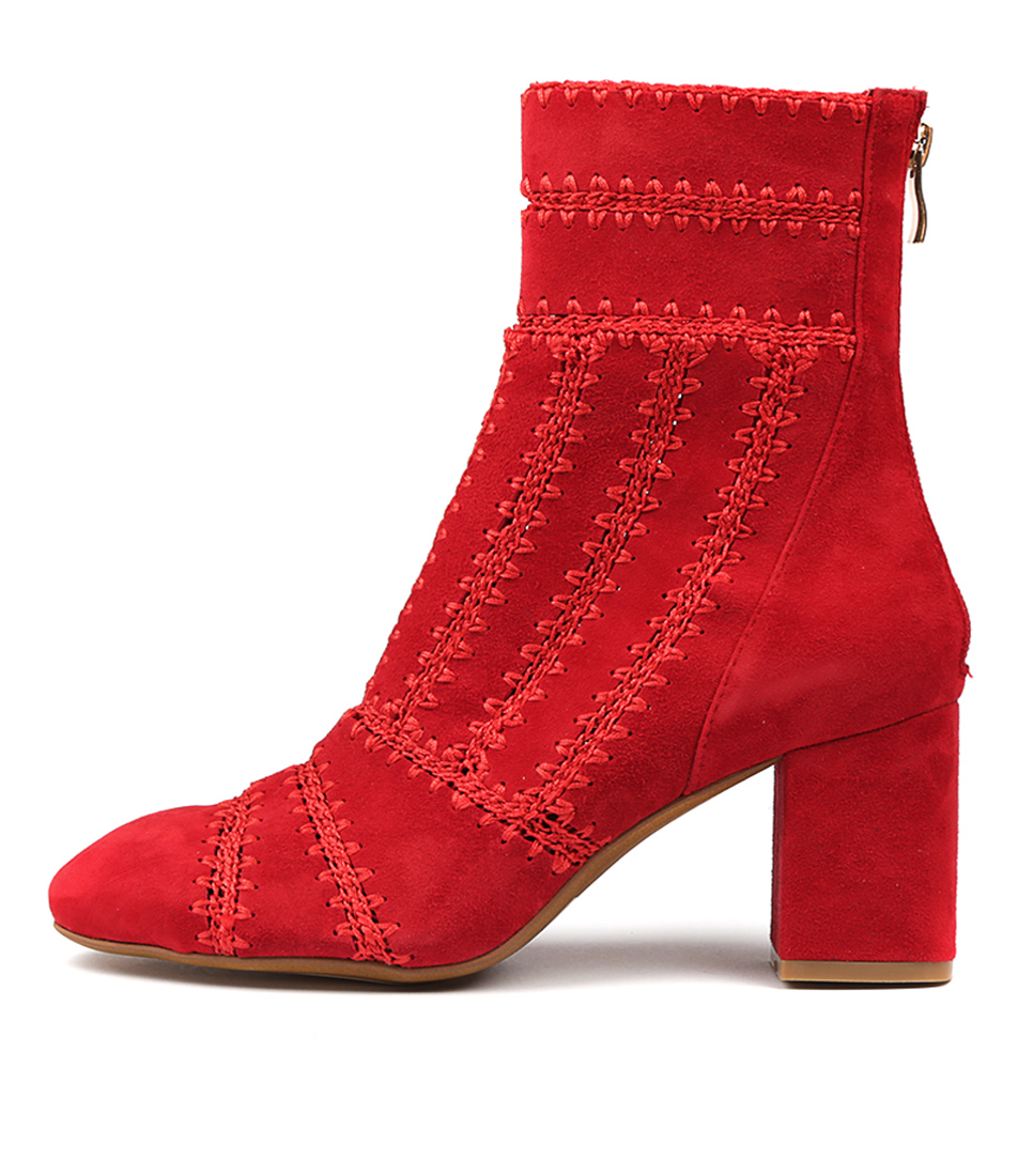 Mollini Shuffle Red Ankle Boots
