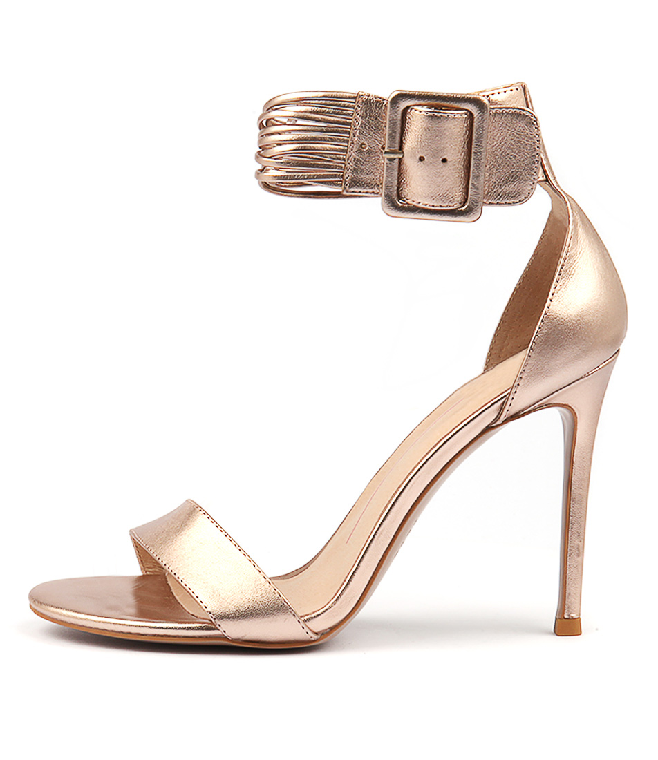 Buy Mollini Dejah Rose Gold Heeled Sandals online with free shipping