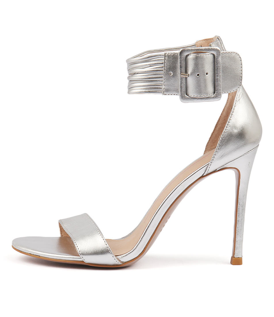 Buy Mollini Dejah Silver Heeled Sandals online with free shipping