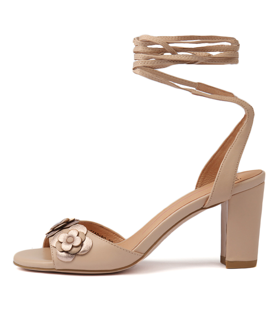 Buy Mollini Giadaro Skin Rose Gold Heeled Sandals online with free shipping
